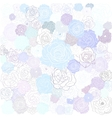 Hand drawn floral doodle background abstract vector image