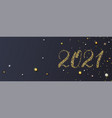 happy new year 2021 handdrawed numbers vector image