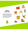 happy new year poster template with holiday vector image