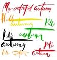 Hello Autumn Lettering Design Set vector image