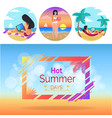 hot summer days woman set vector image