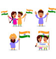 independence day in india greeting card with vector image