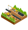 isometric of the construction vector image vector image