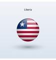 Liberia round flag vector image vector image