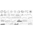 line charts set business vector image