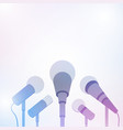 microphones for press conference or interview vector image