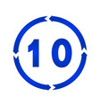 number 10 icon vector image vector image