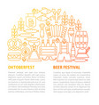 oktoberfest line template vector image
