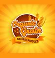 organic grain label natural natural product vector image
