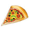 Pizza italian food vector image vector image