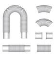plumbing corrugated flexible tubes vector image vector image