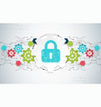 protection concept security mechanism system vector image vector image