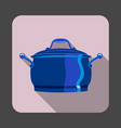 saucepan concept background cartoon style vector image