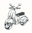 scooter moped drawn in black ink vector image vector image