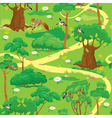 Seamless pattern - Green Forest Landscape vector image