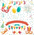 set collection festive colorful carnival vector image