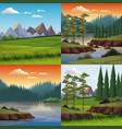 set nature landscapes vector image vector image