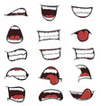 set of mouths cartoon vector image
