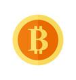 single bitcoin simple symbol graphic vector image
