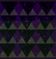 space triangle seamless pattern with grunge effect vector image