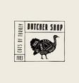 stock turkey diagram vector image