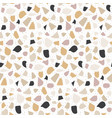 terrazzo modern seamless pattern abstract vector image
