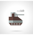 Toy tank flat color icon vector image vector image