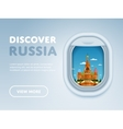 Traveling by plane Landmarks in the window vector image