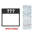 Unknown Date Icon vector image