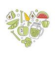 vegan food banner template natural organic vector image vector image