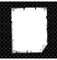 vertical torn sheet in blank over black texture vector image