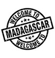 welcome to madagascar black stamp vector image vector image
