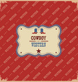 western label background with text vector image