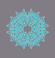 whistling snowflake element vector image vector image