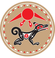 wolf - coyote - native american style vector image vector image