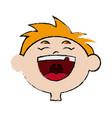 cartoon laugh girl child celebration happy vector image