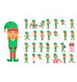 elf girl christmas santa claus helper in different vector image