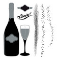 graphic resource set for sparkling wine designs vector image