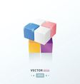 3D Cube Toy Game pink blue orange Purple color vector image vector image