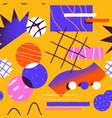 abstract retro fun cartoon shape seamless pattern vector image