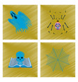assembly flat shading style icon ghost spider vector image