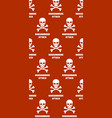 background with skulls and crossbones ransomware vector image