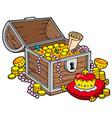big treasure chest vector image vector image