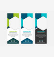 blue and green hexagon roll up business banner vector image vector image