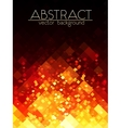 Bright orange fire grid abstract vertical vector image vector image