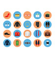 business wardrobe icons office style clothes vector image