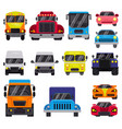 car front view auto delivery transport vector image
