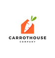 carrot house home logo icon vector image vector image