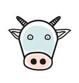 cartoon animal head icon cow face avatar vector image vector image