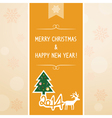 Christmas greeting card6 vector image vector image